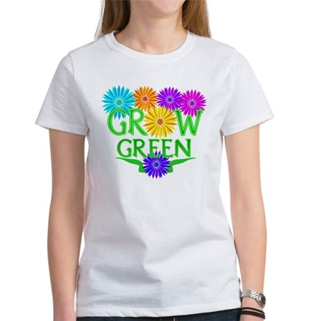 Grow Green Floral Women's T-Shirt