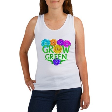 Grow Green Floral Women's Tank Top