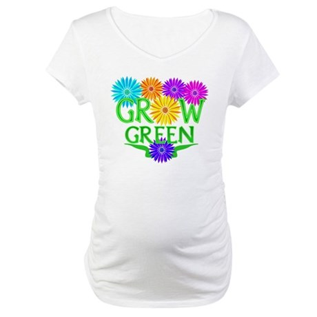 Grow Green Floral Maternity T-Shirt