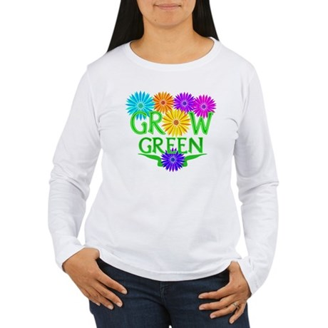 Grow Green Floral Women's Long Sleeve T-Shirt