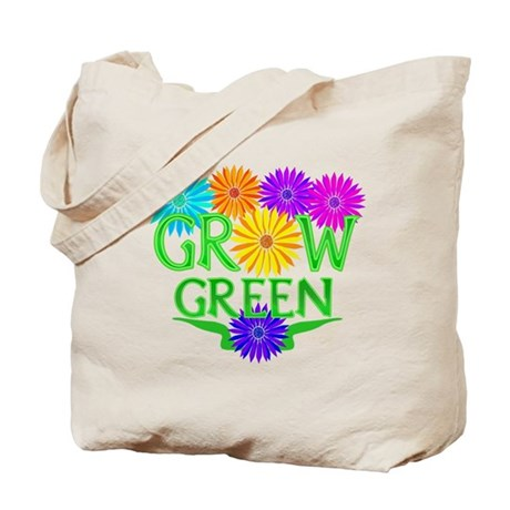 Grow Green Floral Tote Bag