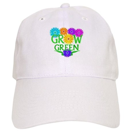 Grow Green Floral Cap