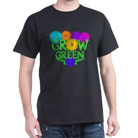 Grow Green Floral Dark T-Shirt