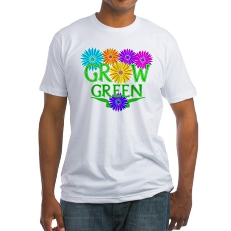 Grow Green Floral Fitted T-Shirt