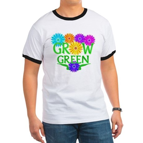Grow Green Floral Ringer T