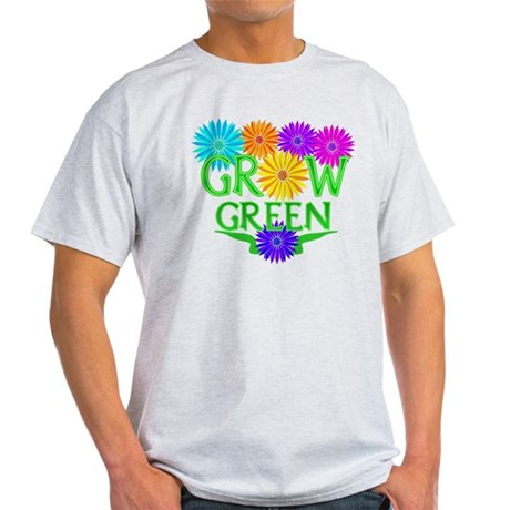 Grow Green Floral Light T-Shirt