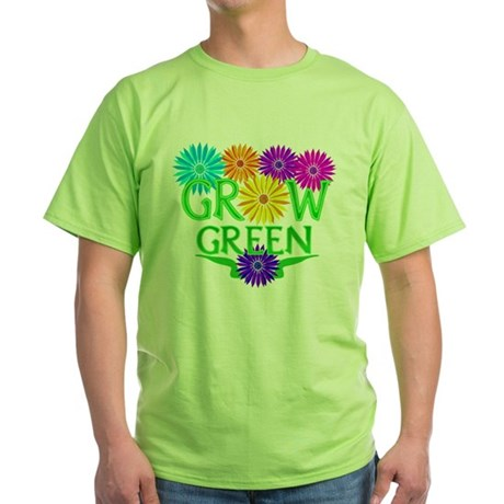 Grow Green Floral Green T-Shirt