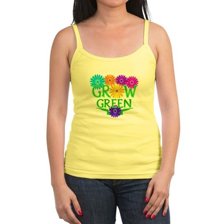 Grow Green Floral Jr. Spaghetti Tank