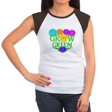 Grow Green Floral Women's Cap Sleeve T-Shirt