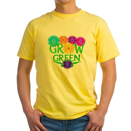 Grow Green Floral Yellow T-Shirt