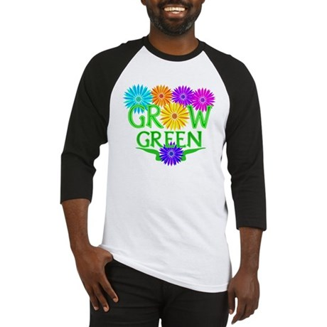Grow Green Floral Baseball Jersey