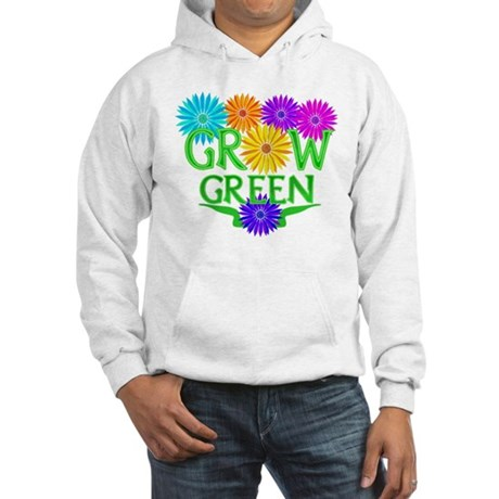 Grow Green Floral Hooded Sweatshirt