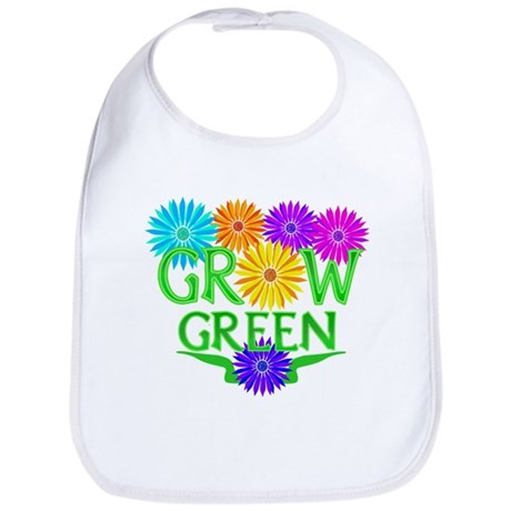 Grow Green Floral Bib