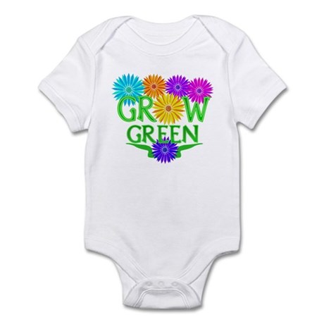 Grow Green Floral Infant Bodysuit