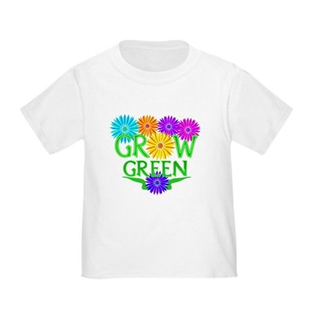 Grow Green Floral Toddler T-Shirt