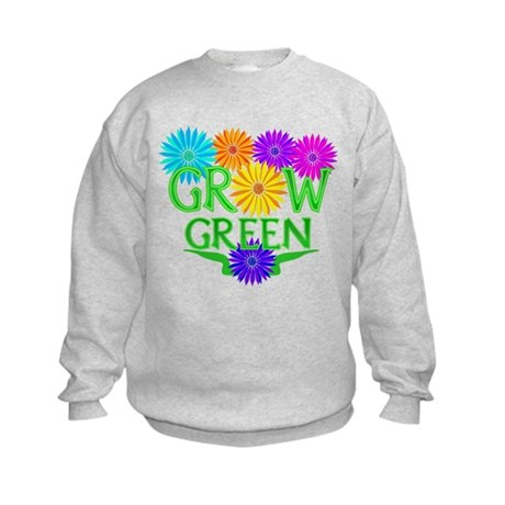Grow Green Floral Kids Sweatshirt