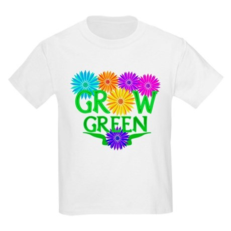 Grow Green Floral Kids Light T-Shirt