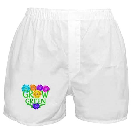 Grow Green Floral Boxer Shorts