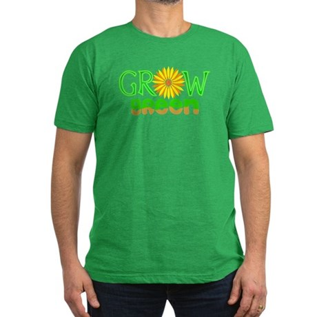 Grow Green Men's Fitted T-Shirt (dark)