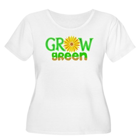 Grow Green Women's Plus Size Scoop Neck T-Shirt