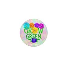 Grow Green Floral Mini Button (10 pack)