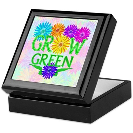 Grow Green Floral Keepsake Box