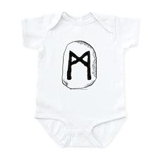 Norse Rune Mannaz Infant Creeper