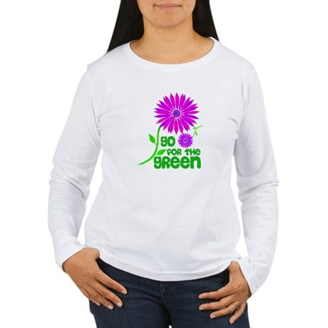 Go for the Green Women's Long Sleeve T-Shirt