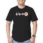 Hadoken Men's Fitted T-Shirt (dark)