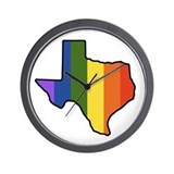 Cute Texas gay pride Wall Clock