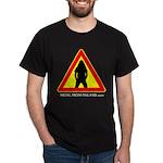 Dark T-Shirt Metalhead warning simple