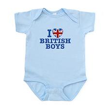 I Love British Boys Infant Bodysuit