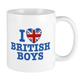 I Love British Boys Coffee Mug
