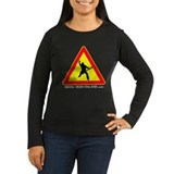 Women's Long Sleeve Dark Beware of Metalhead simp