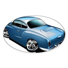 Karmann Ghia Blue Oval Sticker (50 pk)