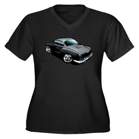 Karmann Ghia Black Women's Plus Size V-Neck Dark T