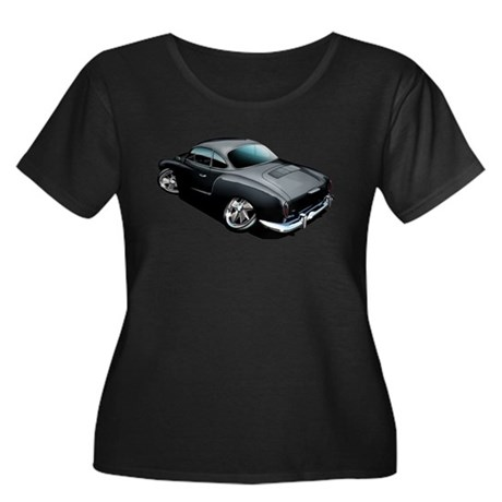 Karmann Ghia Black Women's Plus Size Scoop Neck Da