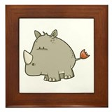 Baby Rhino Framed Tile