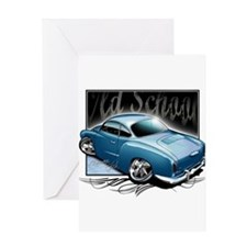 Bg Karmann Ghia Blue Greeting Card