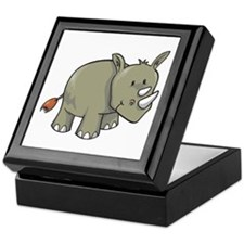 Two Horn Rhino Keepsake Box