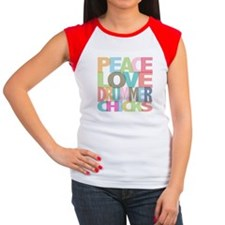 Peace Love Drummer Chicks Tee