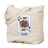 Kiwi Playing Card Tote Bag