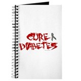 Cure Diabetes Graffiti Red Journal