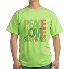 Peace Love Saxophones T-Shirt