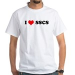 I Love SSCS White T-Shirt