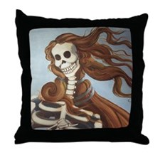 Calavera Painting by Emma Gardner Throw Pillow