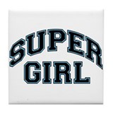 Super Girl Tile Coaster