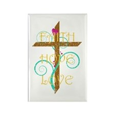Faith Hope Love Rectangle Magnet