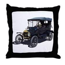Cute Antique car Throw Pillow