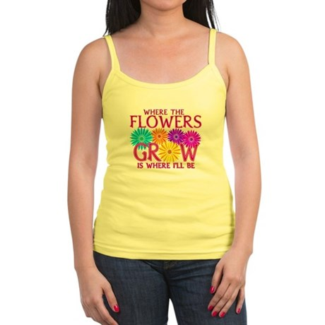 Where Flowers Grow Jr. Spaghetti Tank